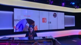 Pianista portuguesa Joana Gama nos estúdios da RFI, 21 de Fevereiro de 2019