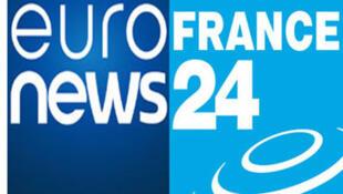 Logos d'Euronews et France 24.