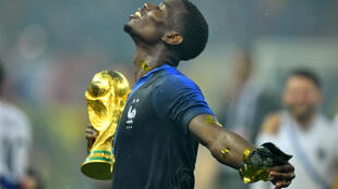 Paul Pogba with the World Cup