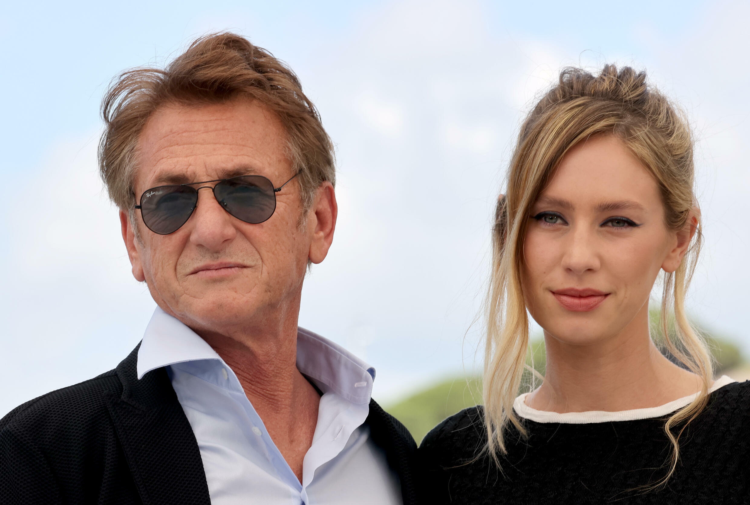 Sean Penn and daughter Dylan Penn, co-stars in 'Flag Day' which received a standing ovation at its premiere in Cannes on Saturday.