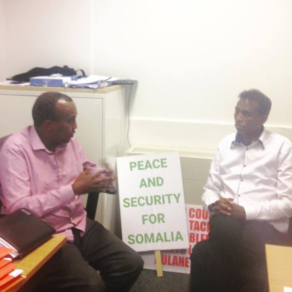 Members of the Somali diaspora in London react to the October 14, 2017 attack in Mogadishu, on Saturday November 4, 2017.