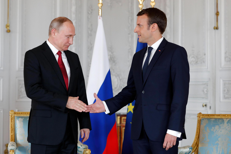 Wata ganawar Shugaba Emmanuel Macron da Vladimir Putin na Rasha.