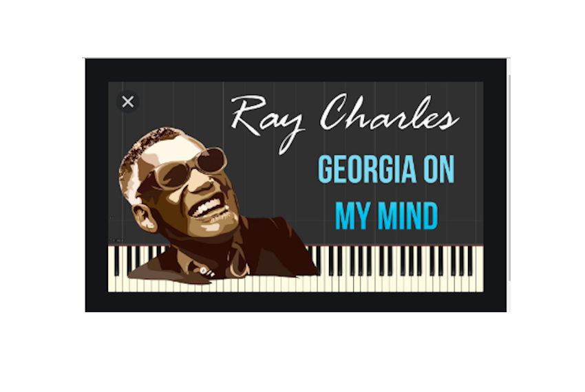 Pochette du tube «Georgia on my mind» de l'artiste américain Ray Charles.