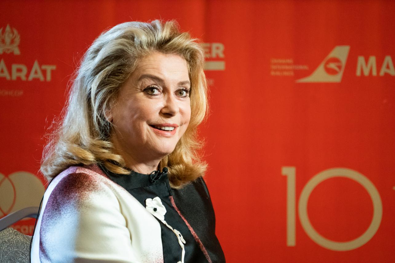 Катрин Денев на Одесском кинофестивале