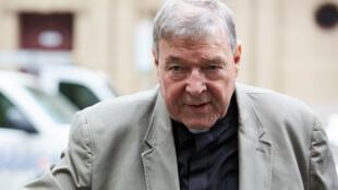 O Cardeal australiano George Pell, numero três do Vaticano, condenado por pedofilia.