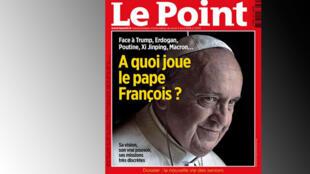 A capa da revista semanal Le Point dá destaque ao papa Francisco e sua opinião sobre os conflitos da atualidade.