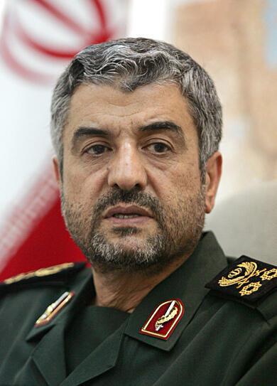 O general iraniano Mohammad Ali Jafari, comandante-chefe da Guarda Revolucionária iraniana.