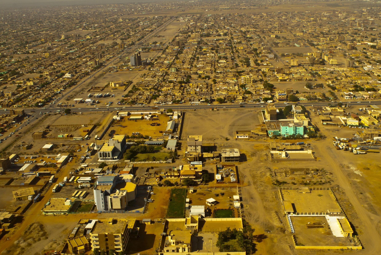 Vue aérienne de Khartoum, Soudan.