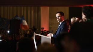 Benoît Hamon, le soir du 23 avril à l'issue du premier tour de l'élection présidentielle.