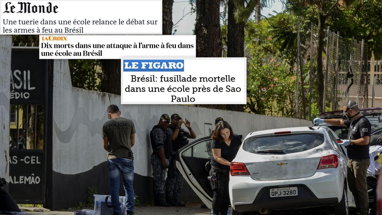Jornais franceses desta quinta-feira(14), dizem que o massacre na escola de Suzano relança o debate sobre o porte de armas no Brasil.