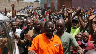 El líder de la oposición Raila Odinga este domingo 29 de octubre en Nairobi, Kenia.