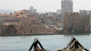 Vue de la ville de Saïda au Liban.