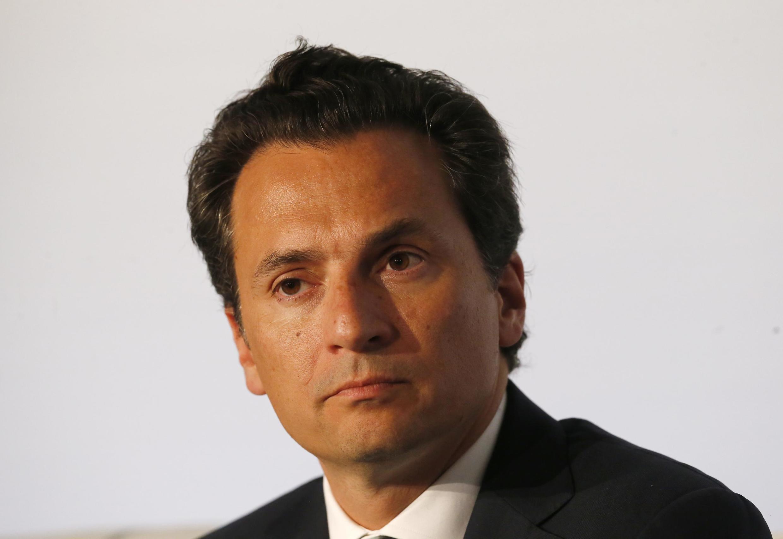 Emilio Lozoya, PDG de Petroleos Mexicanos (Pemex), lors d'une réunion à Paris, le 16 octobre 2015.