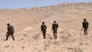 """Солдаты сирийской армии, сражающиеся с бойцами террористичсекой группировки """"Исламское государство"""""""