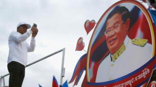 La campagne du parti du président Hun Sen (CPP) à Phnom Penh, le 7 juillet 2018.