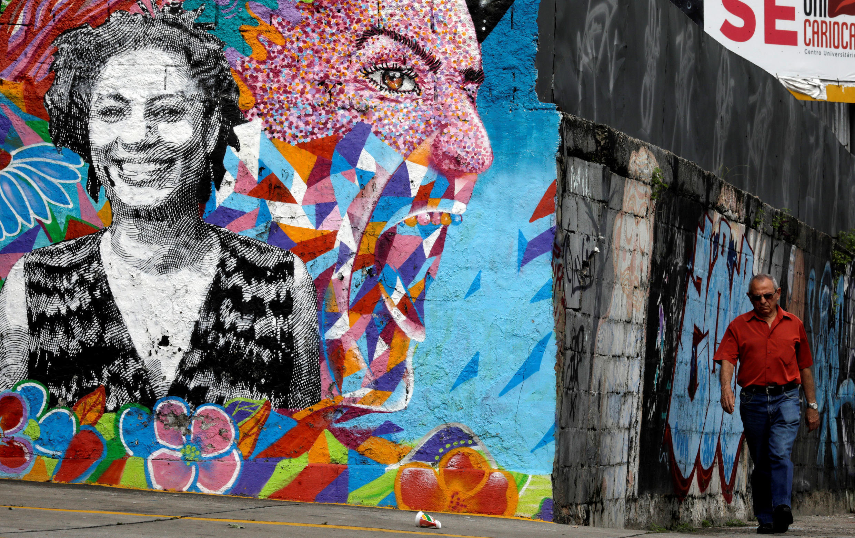 Mural em homenagem a Marielle Franco, no Rio de Janeiro.
