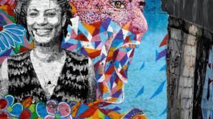 Portrait mural de Marielle Franco. Rio de Janeiro, le 12 mars 2019.