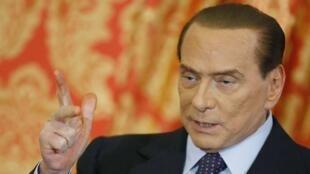 Silvio Berlusconi, ancien président du Conseil italien.