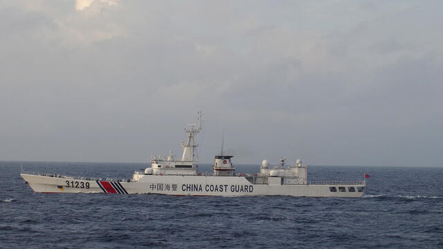 日本连续三天抗议中国海警舰试图接近日本渔船(photo:RFI)