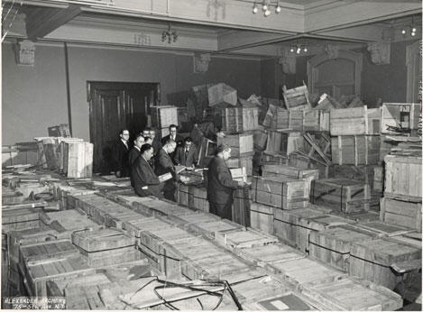 Les archives de Vilnus récupérés par l'Institut scientifique juif YIVO à New york en 1947.