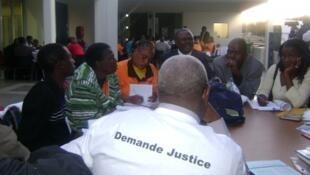 Grupo de trabalho no fórum dos Povos da SADC 2012 que decorreu entre 13 e 15 de Agosto na província de Maputo