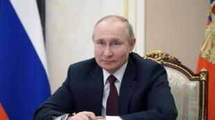 Le président russe Vladimir Poutine, à Moscou, le 18 mars 2021.