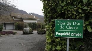The home of the man held by questioning by French gendarmes