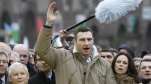 Vitali Klitschko, leader de l'opposition ukrainienne, dimanche 1er décembre à Kiev.