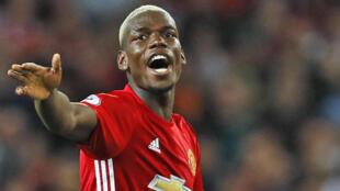 Dan wasan tsakiya na Manchester United, Paul Pogba.