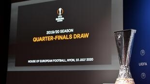 The Europa League will be completed with a mini-tournament in Germany from the quarter-finals onwards in August