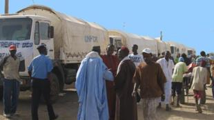 Camions de transport au Sénégal.