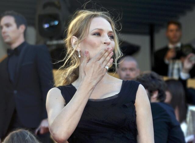 A atriz Uma Thurman, em Cannes, em 2013.