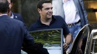 Алексис Ципрас, ушедший в отставку премьер-министр Греции.