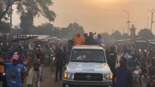centrafrique bangui campagne présidentielle doguelé