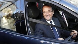 François Hollande à Tulle, en Corrèze, le 16 octobre 2011.
