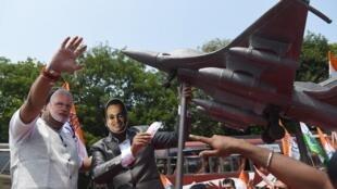 Une manifestation à Bombay après des révélations sur la vente des «Rafale» à l'Inde par la France. Le 27 septembre 2018.