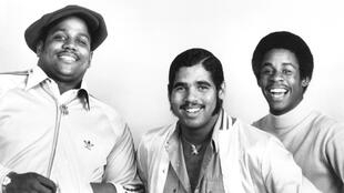 Les pionniers du rap Sugarhill Gang, en 1979. Avec Big Bank Hank, Wonder Mike et Master G.