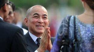 Le roi du Cambodge, Norodom Sihamoni, ici en novembre 2011.