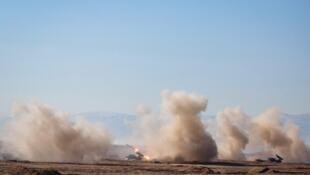 مانور سپاه پاسداران در مرز کردستان عراق