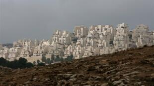 Vista del asentamiento Judío de Har Homa, en Jerusalem Este