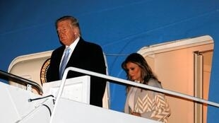 Tổng thống Mỹ Donald Trump trở lại Washington sau đợt nghỉ lễ cuối năm. Ảnh ngày 05/01/2020.