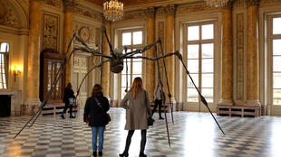 Bronze Spider sculpture by Louise Bourgeois in the exhibition Women House in La Monnaie, Paris.