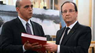 Kader Arif est un proche du président Hollande, ici à ses côtés en novembre 2013.