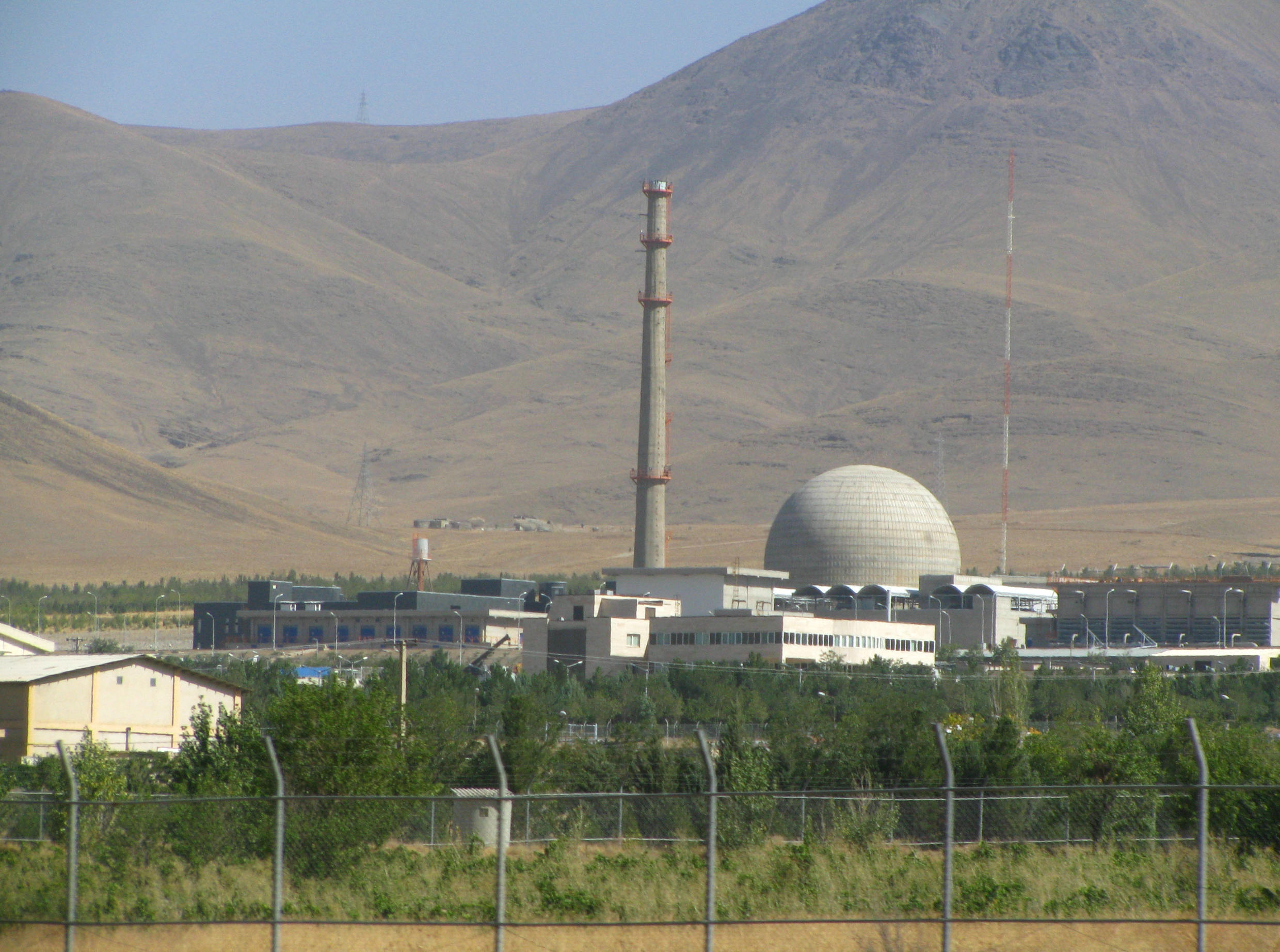 Arak nuclear power plant. The US and Israel suspect that Iran is close to producing a nuclear bomb, but Iran maintains that its nuclear program is only for peaceful use.