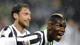 La Juventus Turin a été sacrée championne d'Italie sans jouer après la défaite de l'AS Rome à Catane (1-4), le 4 mai 2014.