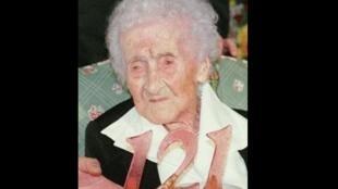 Jeanne Calment, celebrating her 121st birthday