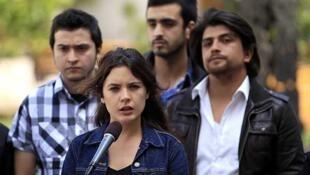 La dirigente estudiantil Camila Vallejo reprobó el comportamiento de la policía tras la marcha del 29 de septiembre de 2011.