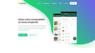 Page d'accueil du site Keiwa-app.com, une application de comptabilité simplifiée pour les commerçants du secteur informel, qui devrait être lancée prochainement au Sénégal et en Côte d'Ivoire.