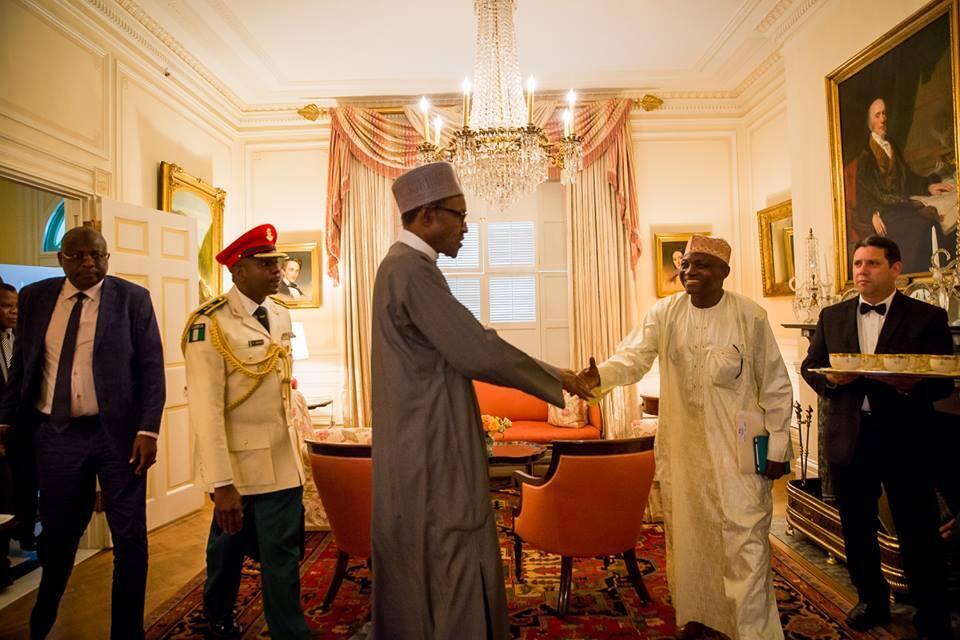 Shugaban Najeriaya  Muhammadu Buhari a Birni  Washington DC