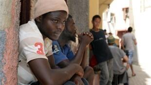 Migrants sénégalais à Rabat, Maroc.